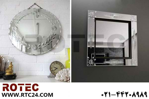 حکاکی روی آینه با استفاده از دستگاه برش و حکاکی لیزری